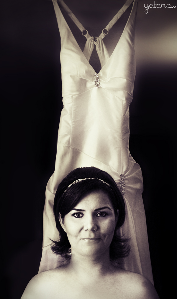 Bride and Dress