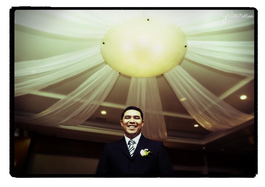 The happy groom